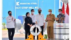 Presiden Jokowi resmikan pabrik baja canggih milik Krakatau Steel