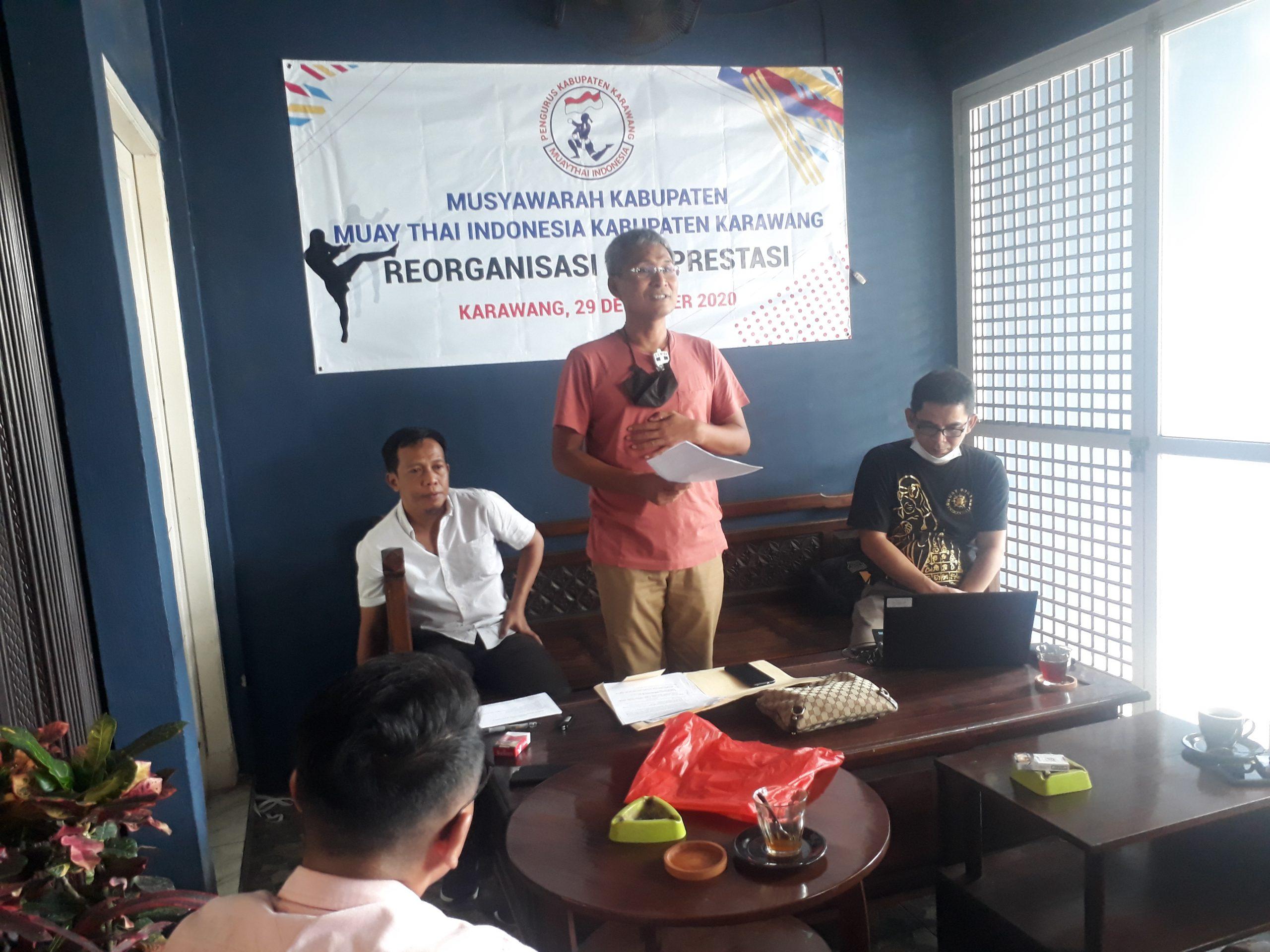 BM Kembali Pimpin Muaythai Karawang, Gerak Cepat Jelang Porda Jabar 2022