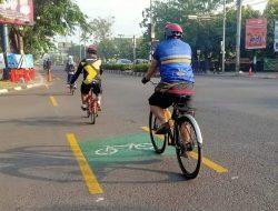 Akhirnya , Kabupaten Karawang sekarang Punya Jalur Sepeda